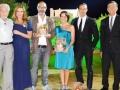 """Premio """"La Giara"""" - i tre vincitori con Pino Caruso, Debora Caprioglio e Michele Cucuzza - Agrigento, Luglio 2013"""