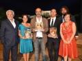 """Premio """"La Giara"""" - i tre vincitori con Michele Guardì, Alessandro Salas e Paola Gaglianone- Agrigento, Luglio 2013"""