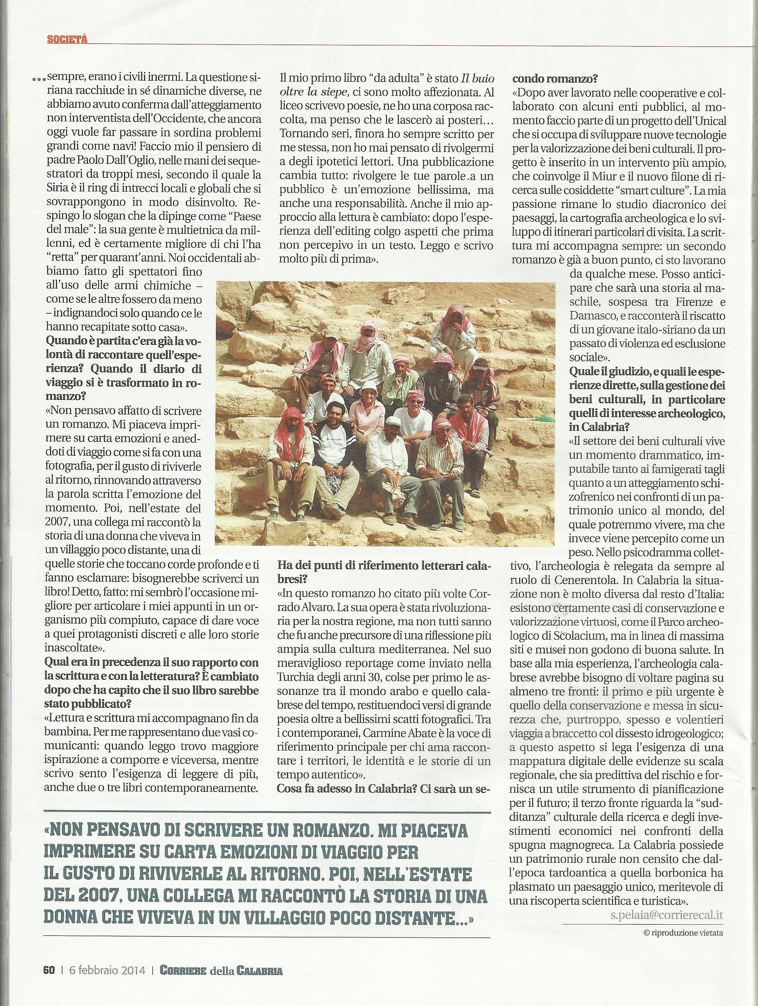 6cCorriere della Calabria p.3 06-02-2014